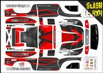 Red Carbon GT themed vinyl SKIN Kit To Fit Traxxas Slash 4x4 Short Course Truck
